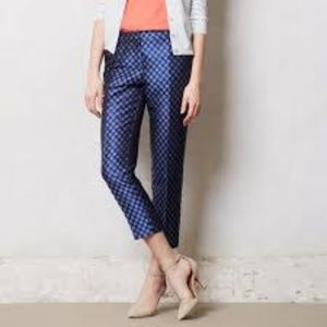 Anthropologie Leifsdotter Jacquard Cropped Pants